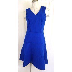 Banana Republic Size 8 Blue Sleeveless Dress Midi